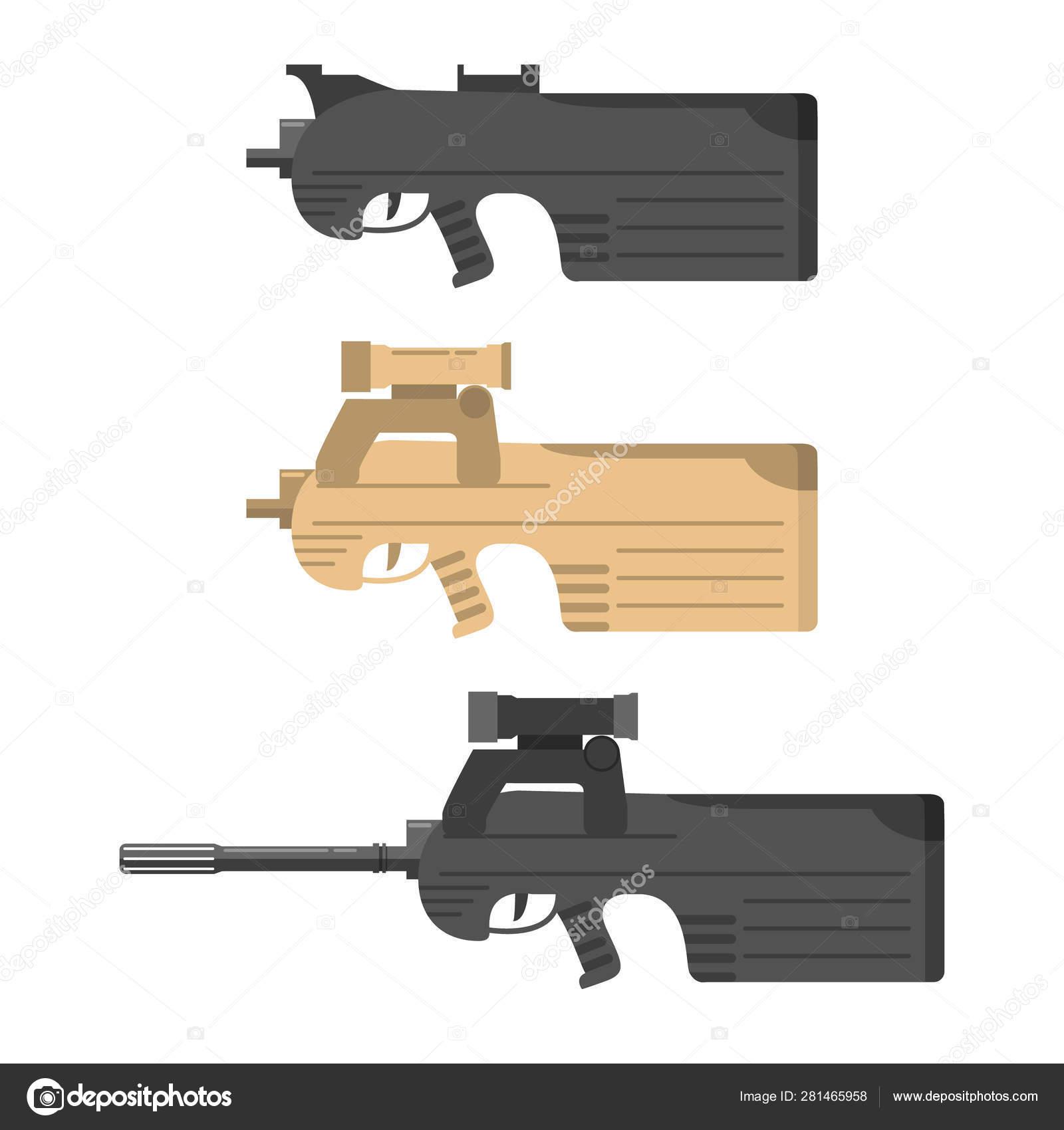 firearms vector flat style