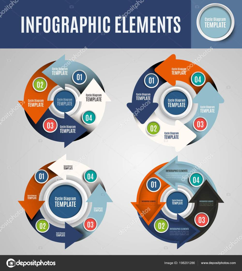 medium resolution of vector circle infographics set template for cycle diagram graph presentation and round chart business concept with 4 options parts steps or processes