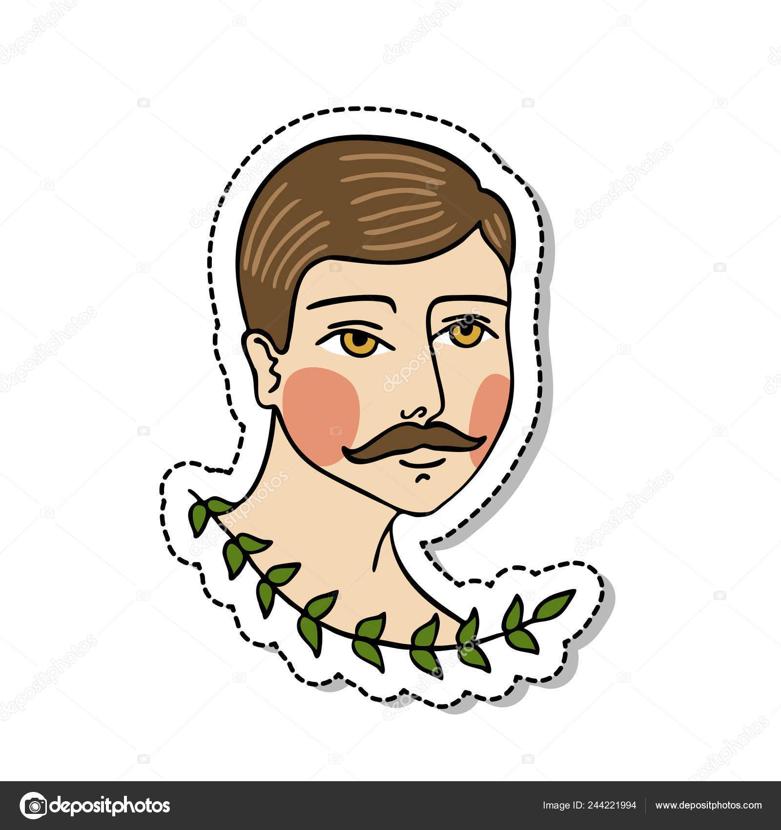 Tatuaje Tradicional Hombre Flash Archivo Imágenes Vectoriales
