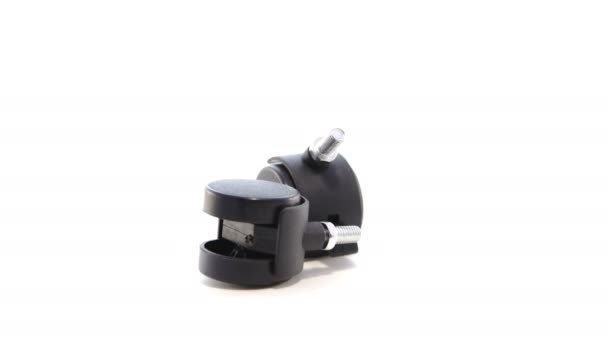 desk chair casters cycle reviews office wheels rotate on white background stockvideo