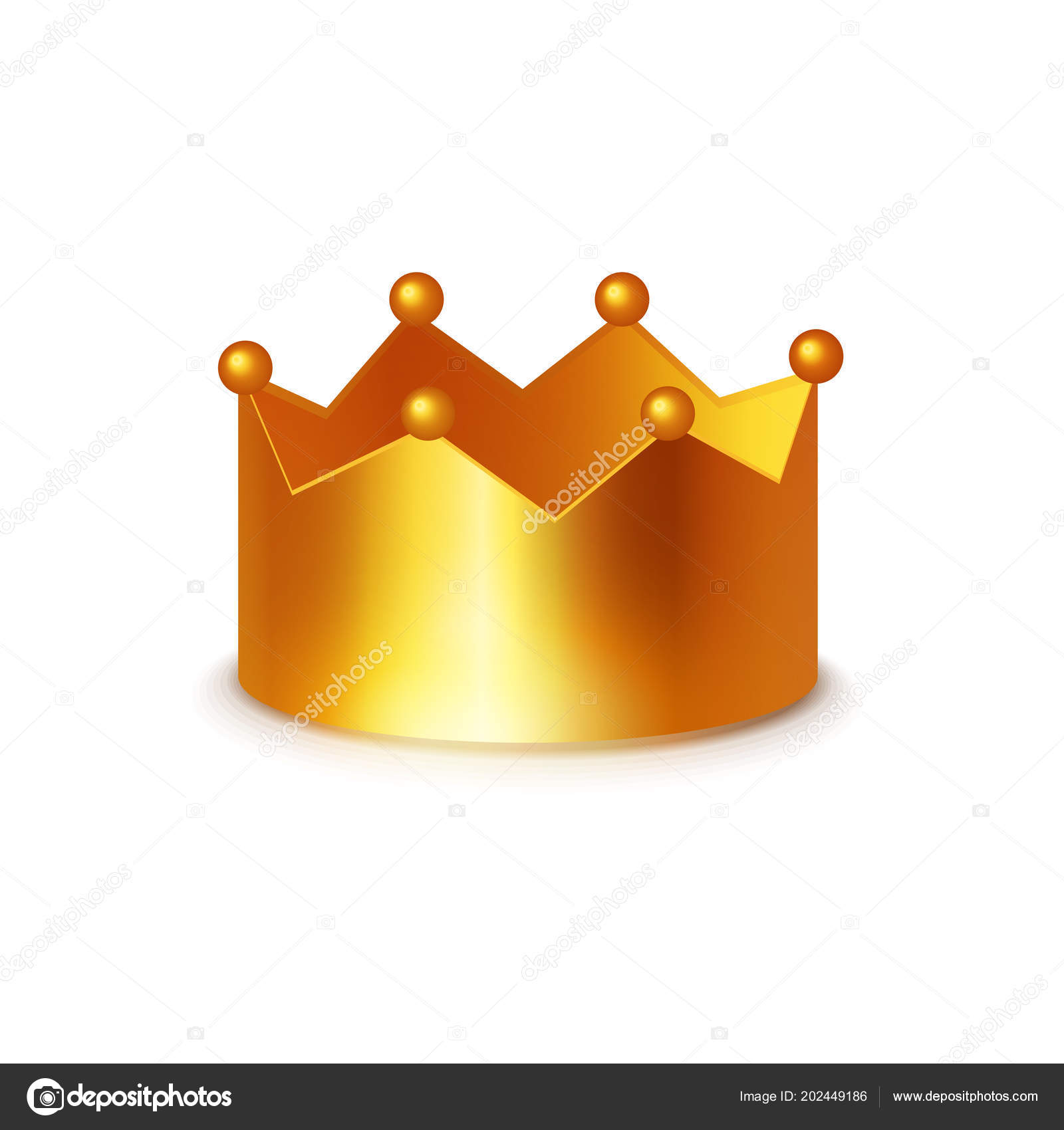hight resolution of golden crown vector clipart isolated white background shiny sogm can stock vector