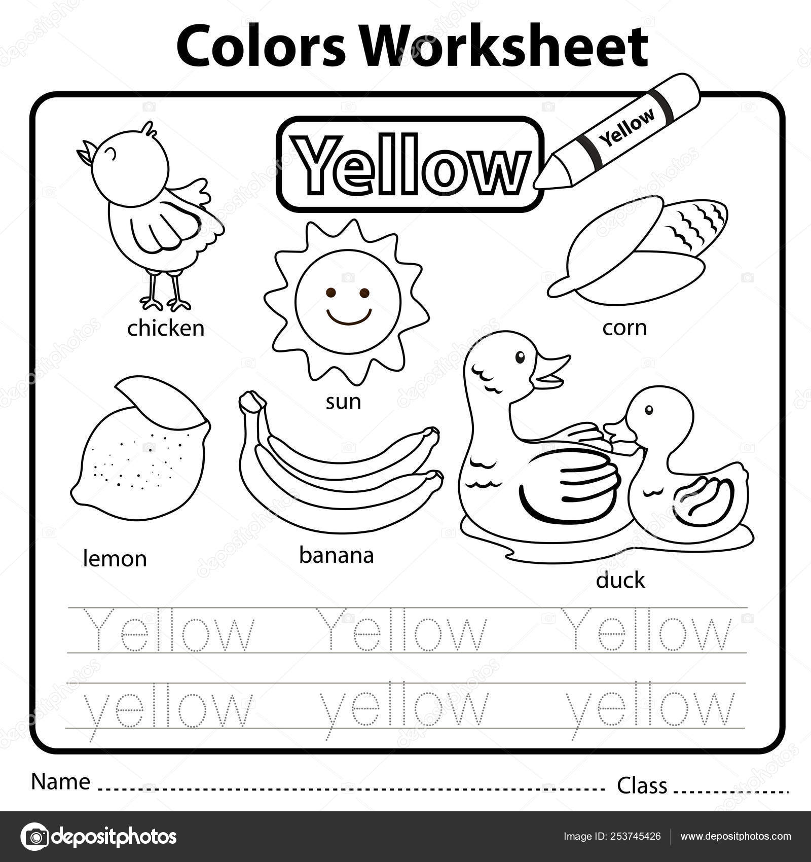 Illustrator Color Worksheet Yellow