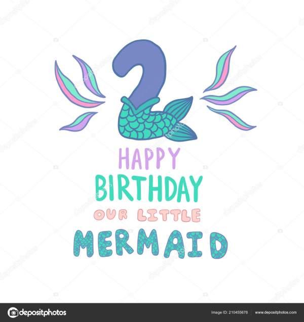 Mermaid Tail Birthday Invitations