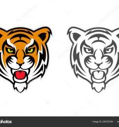 tiger head clipart mascot logo vector de stock [ 1600 x 1196 Pixel ]