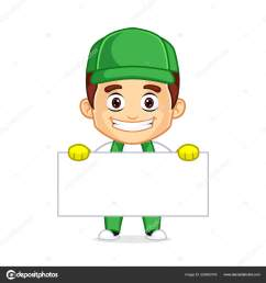cleaning service clipart cartoon mascot ilustraci n de stock [ 1600 x 1700 Pixel ]