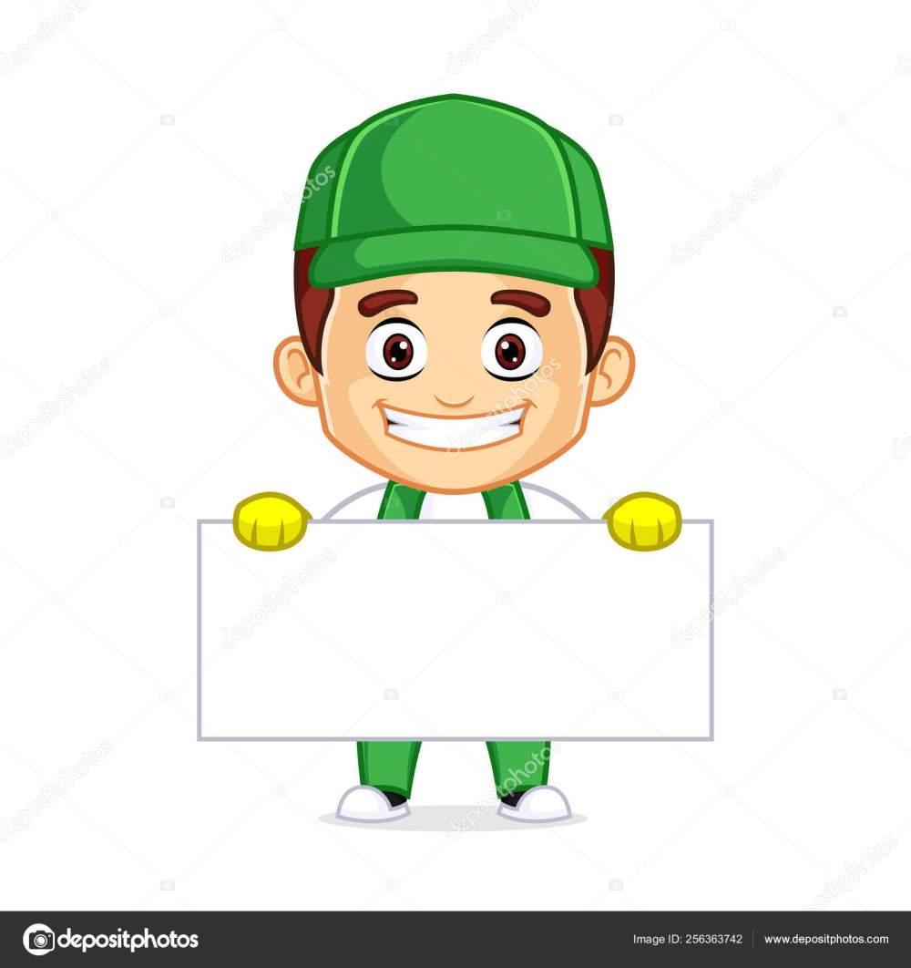 medium resolution of cleaning service clipart cartoon mascot ilustraci n de stock