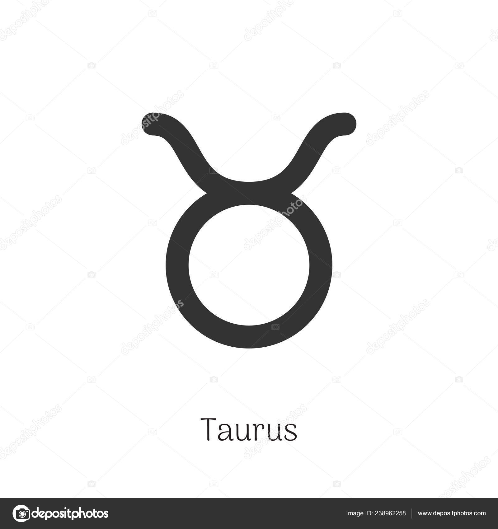 taurus zodiac sign isolated