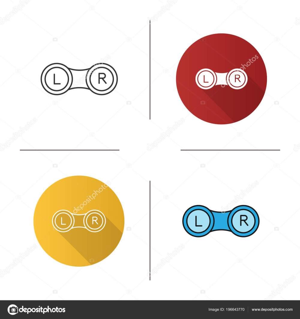 medium resolution of set eye contact lens box icon flat design linear color stock vector
