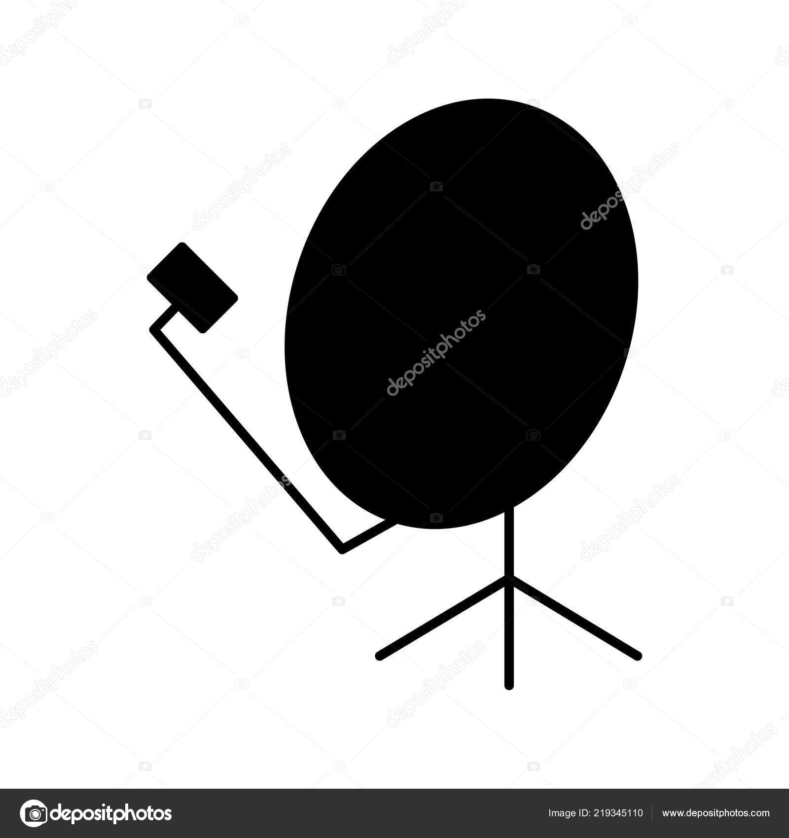 hight resolution of satellite dish glyph icon silhouette symbol parabolic antenna negative space stock vector