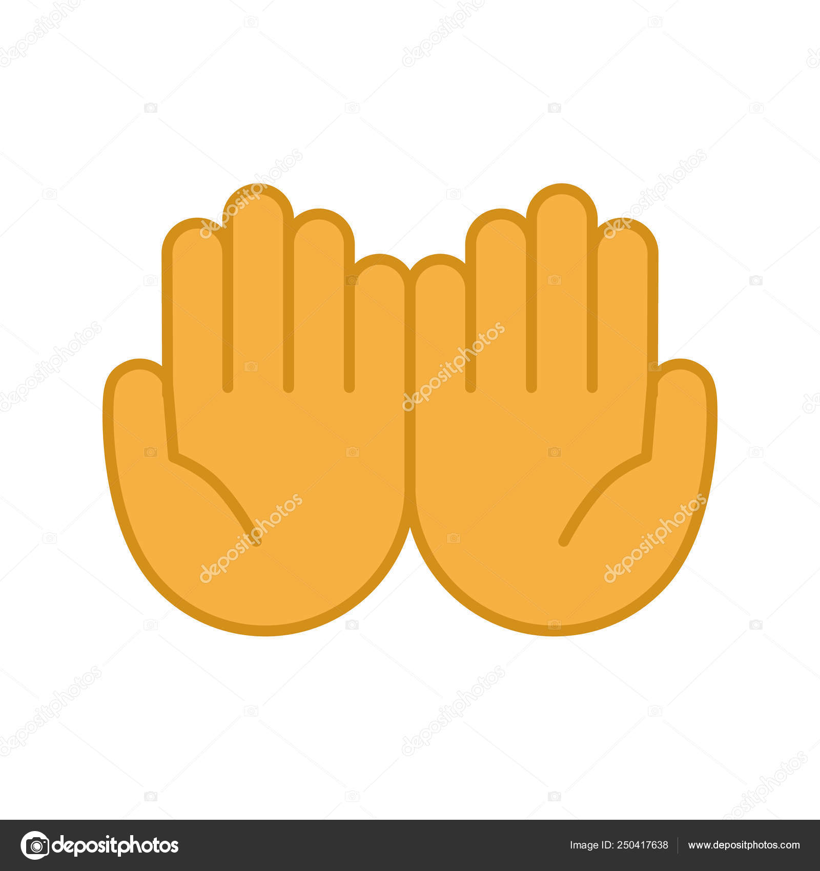 cupped hands color icon