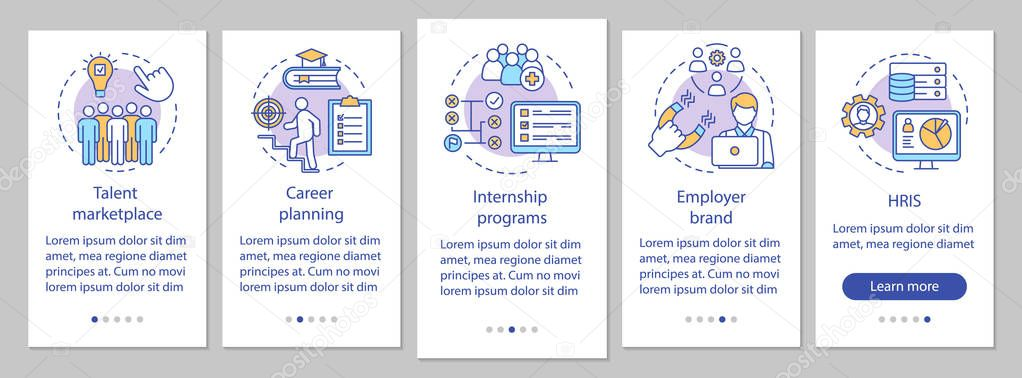Here are a few ways to ensure your onboarding process makes a great first impression for your company. Talent Management Onboarding Mobile App Page Screen Vector Template Internship Program Marketplace Hris Walkthrough Website Steps Linear Illustrations Ux Ui Gui Smartphone Interface Concept Premium Vector In Adobe Illustrator Ai