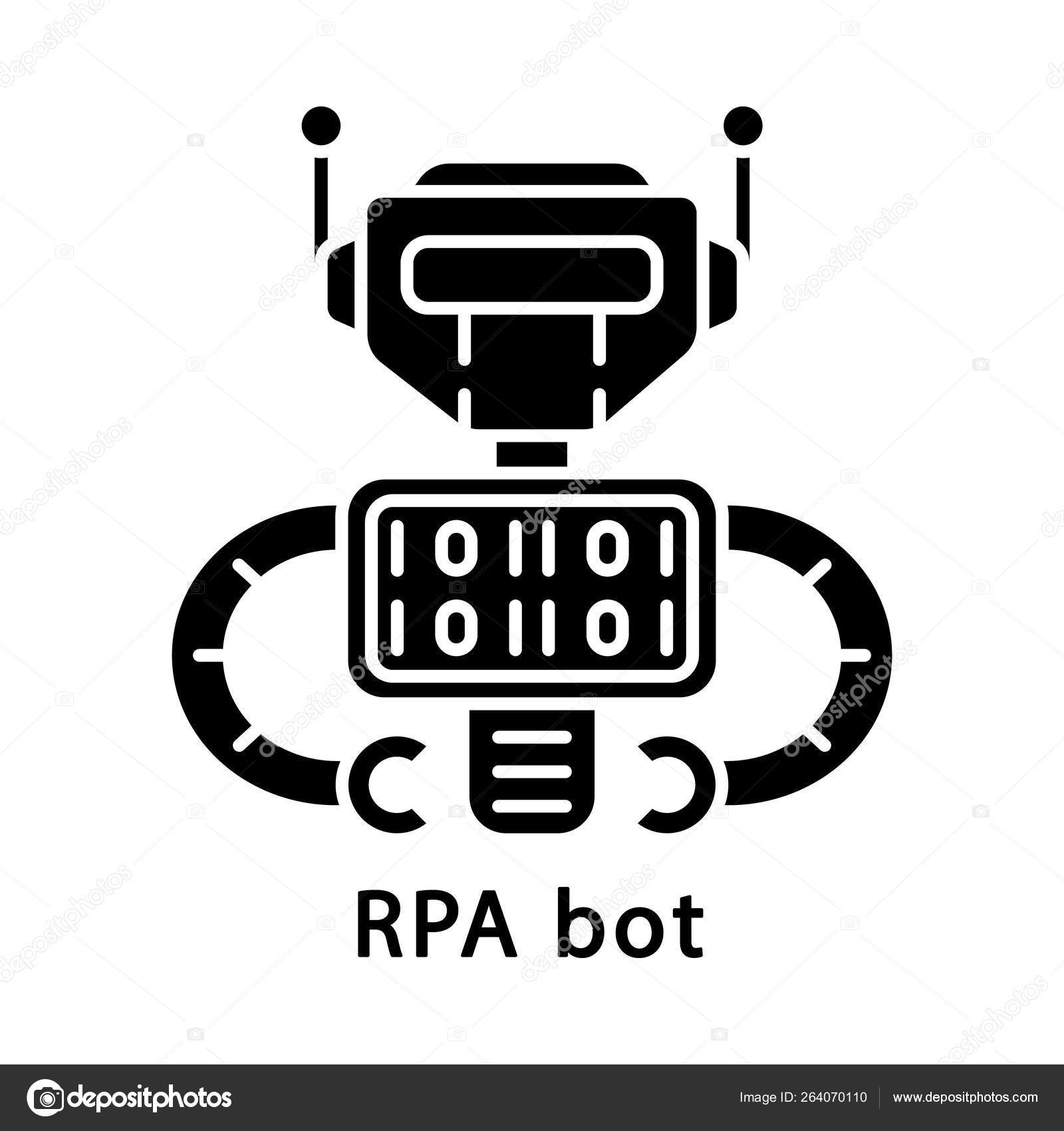 RPA bot glyph icon — Stock Vector © bsd #264070110