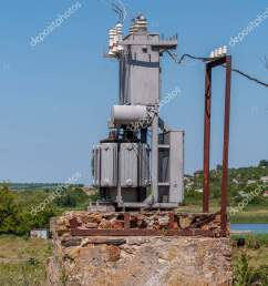 electrical transformer stone stand old high voltage power station stock photo [ 1063 x 1700 Pixel ]