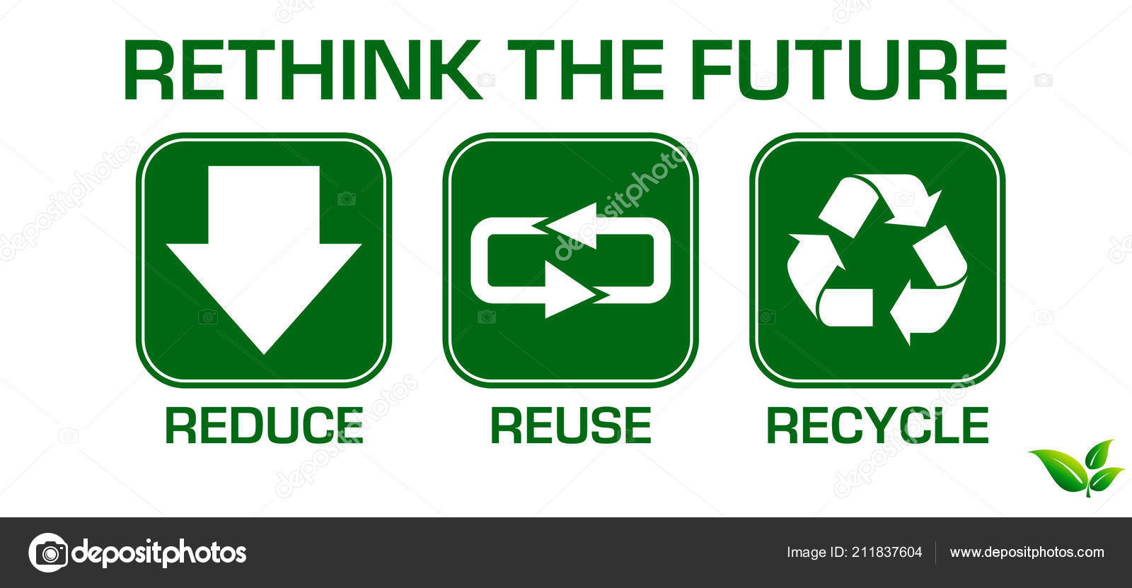 Set Reduce Reuse Recycle Element Concept Easy Modify