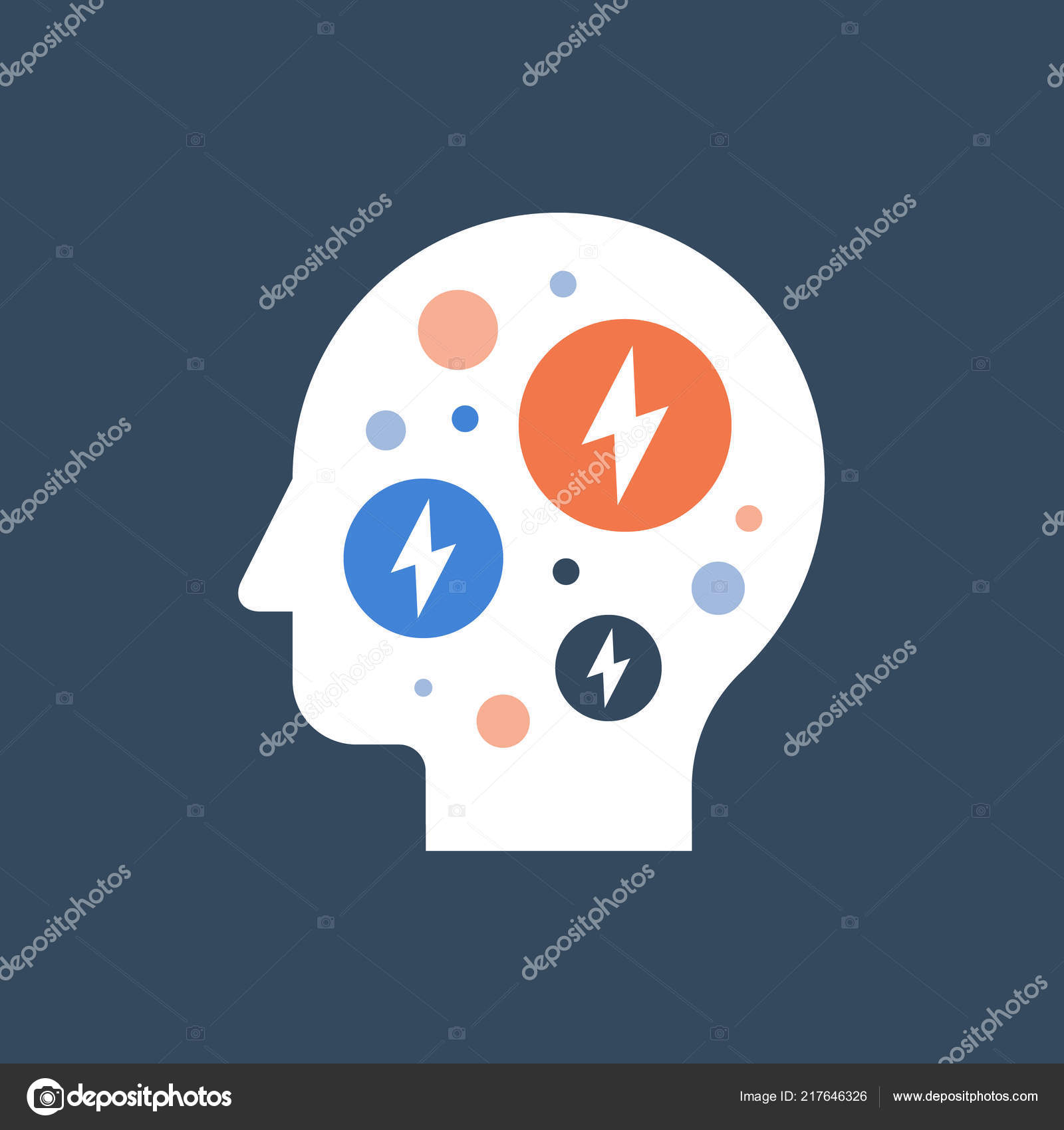 hight resolution of anxiety concept mental health fear and panic attack mood disorder headache vector flat illustration vector by stmool