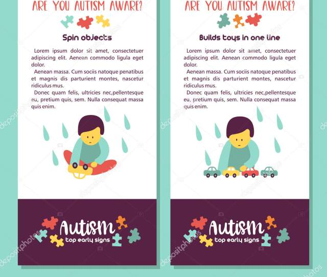 Autism Early Signs Autism Syndrome Children Vector Illustration Children Autism Stock Vector