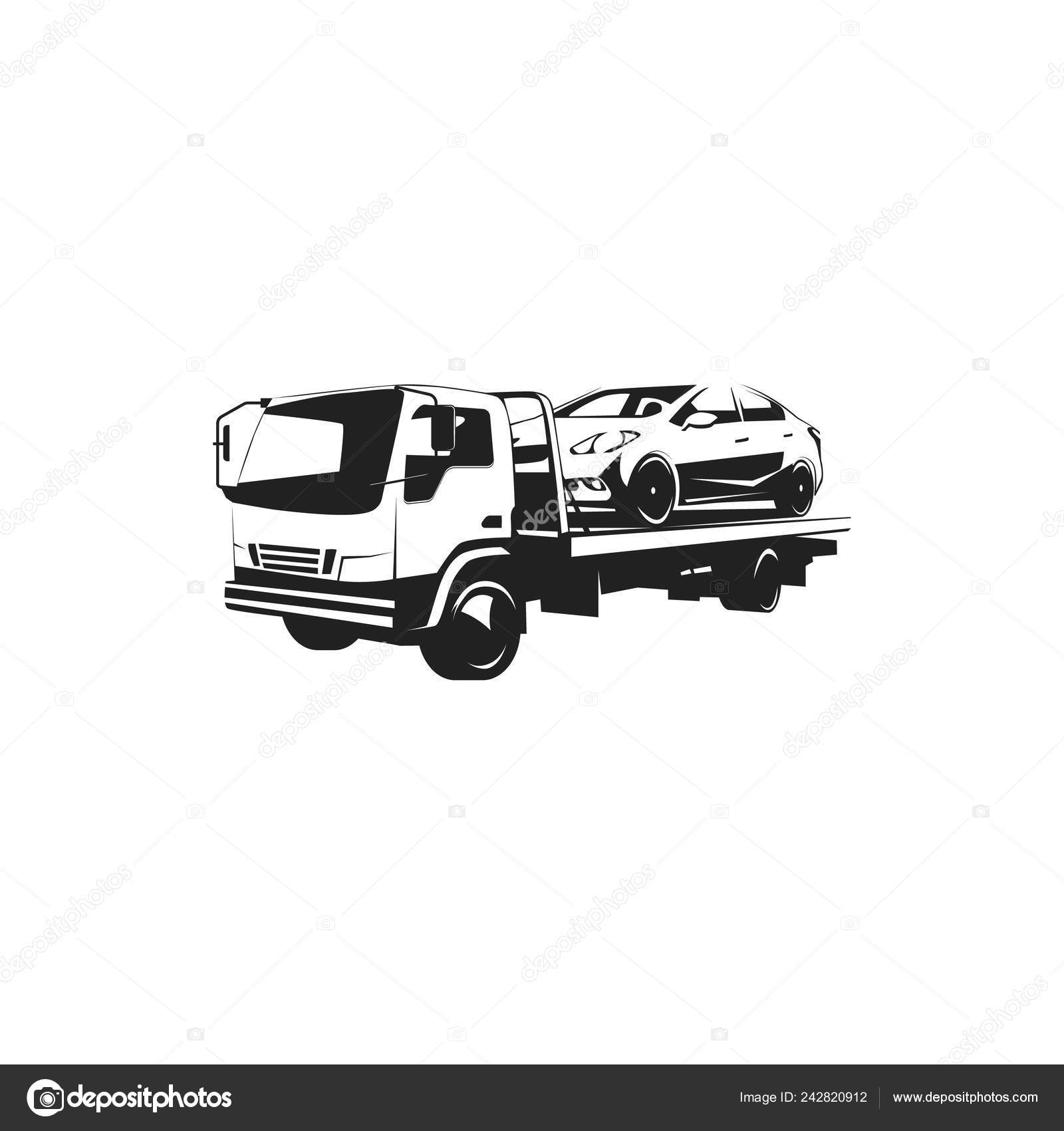 tow truck logo illustration