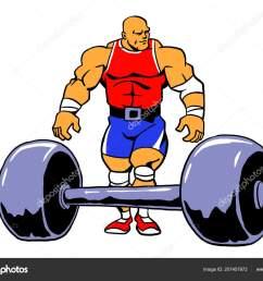 powerlifting muscule bodybuilder workout vector cartoon clipart design stock vector [ 1600 x 1220 Pixel ]