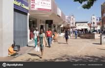 Windhoek Namibia Mai 2018 Menschen Afrikanischen Stadt