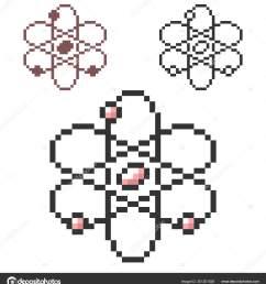 pixel icon atom model three variants fully editable stock vector [ 1528 x 1700 Pixel ]