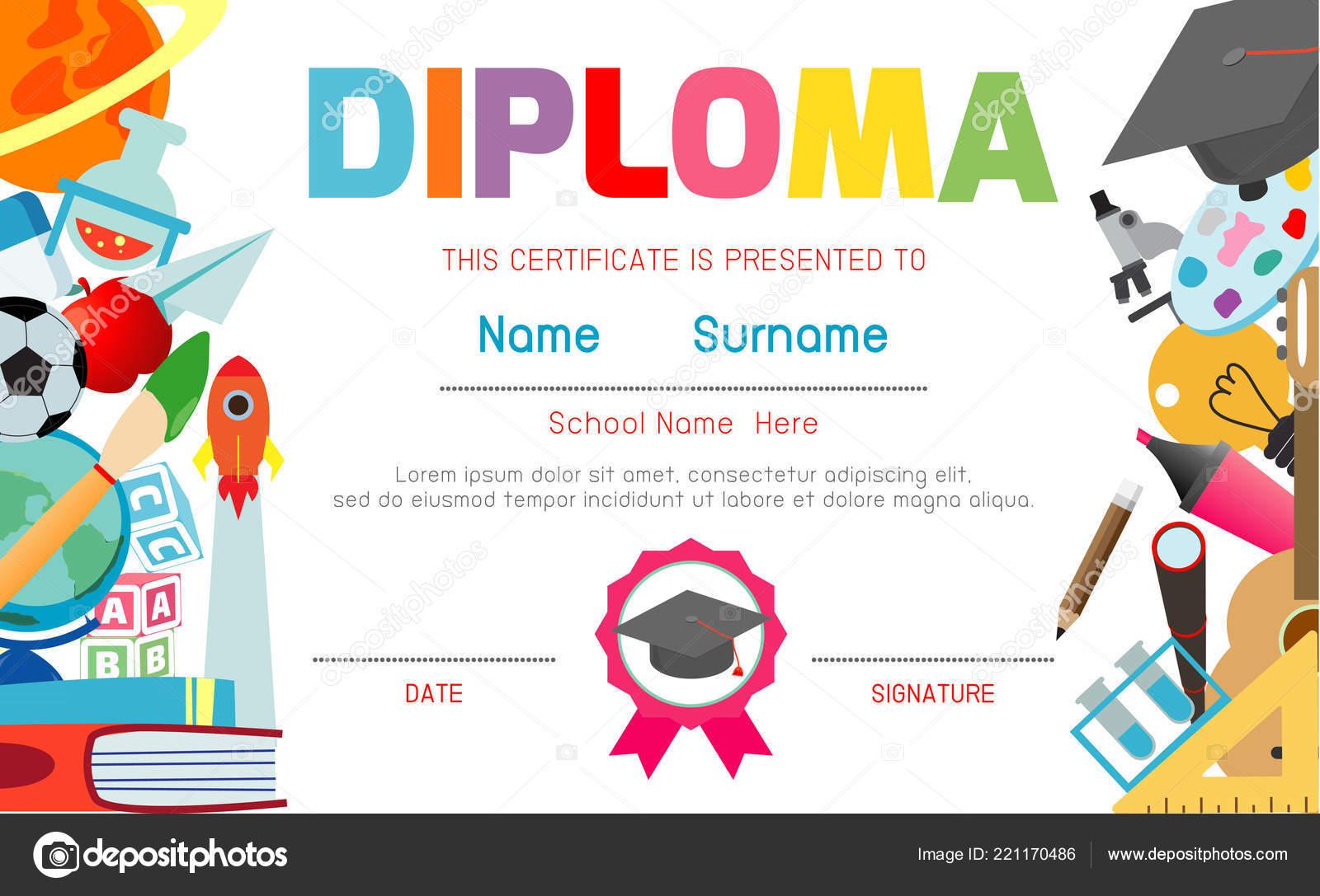 Certificates Kindergarten Elementary Preschool Kids