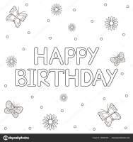 36 Malvorlage Happy Birthday   Besten Bilder von ausmalbilder