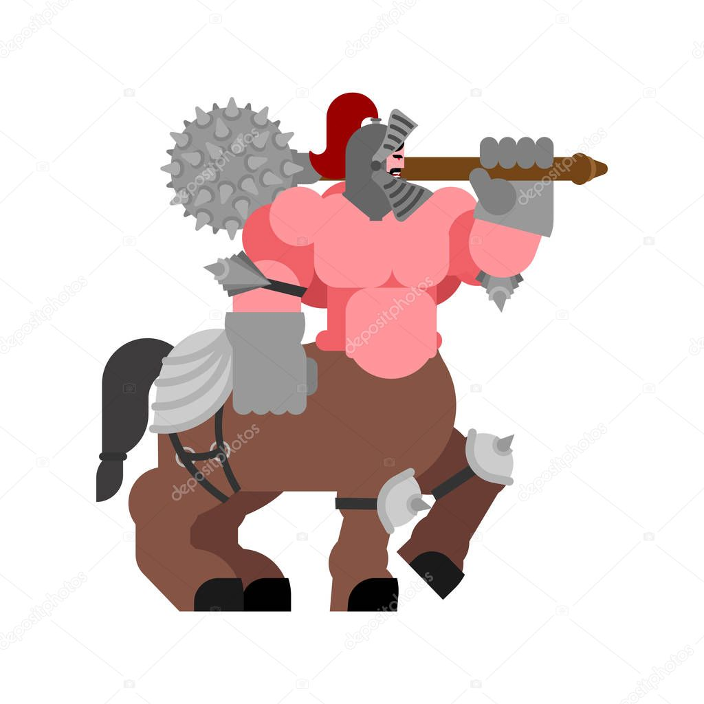 Centaur In Armor Powerful Half Man Half Horse Mythical Monste Premium Vector In Adobe Illustrator Ai Ai Format Encapsulated Postscript Eps Eps Format