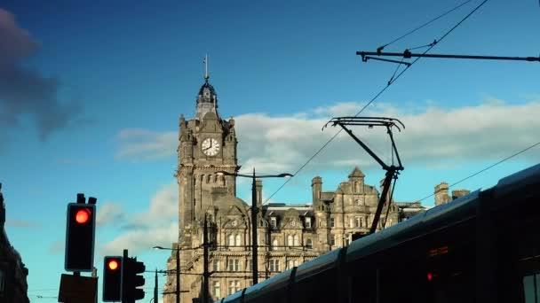Princes Street In Edinburgh Scott Monument And Balmoral Hotel In The Background Scotland United Kingdom Ultra Hd 4k