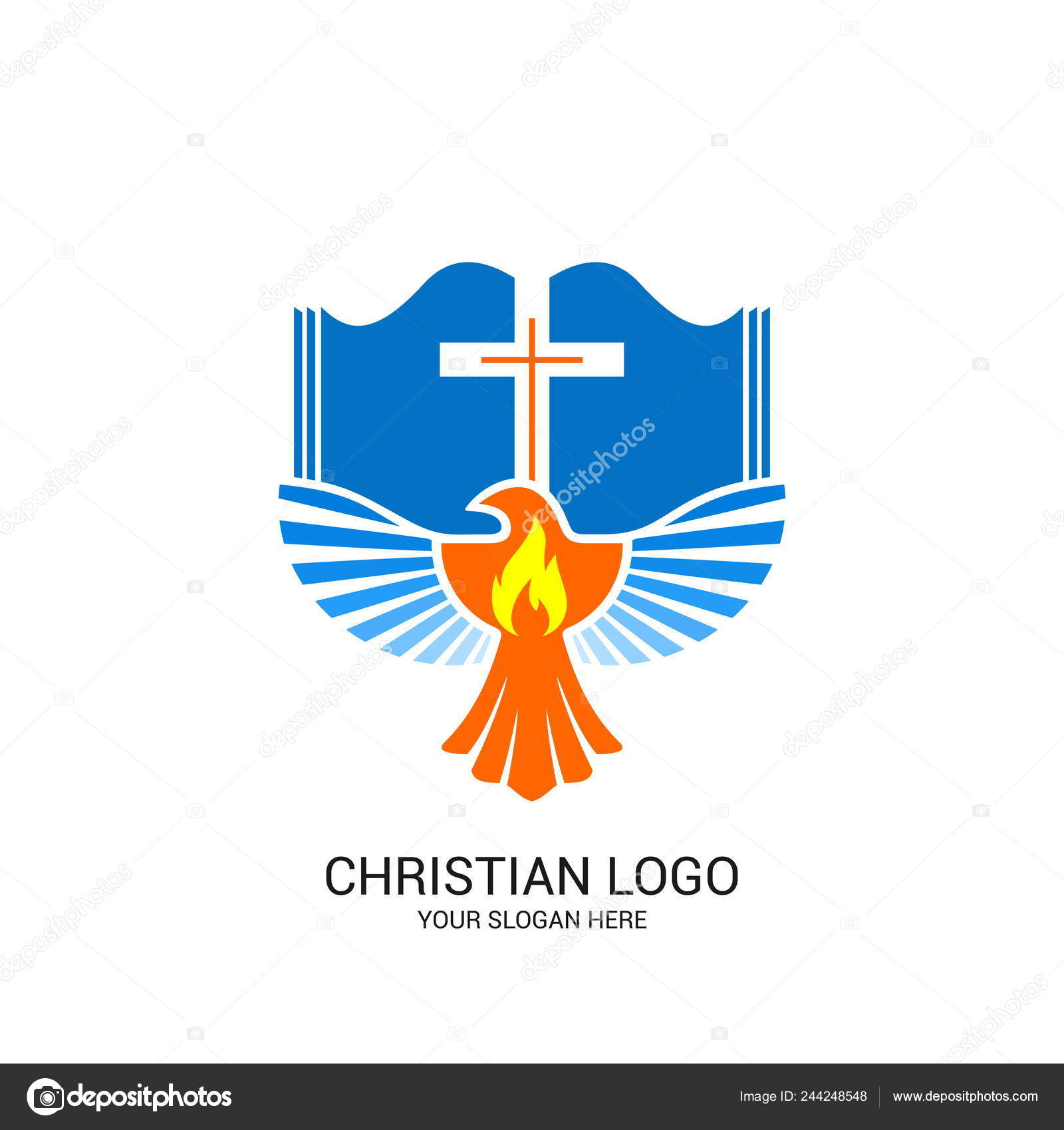 christian church logo bible