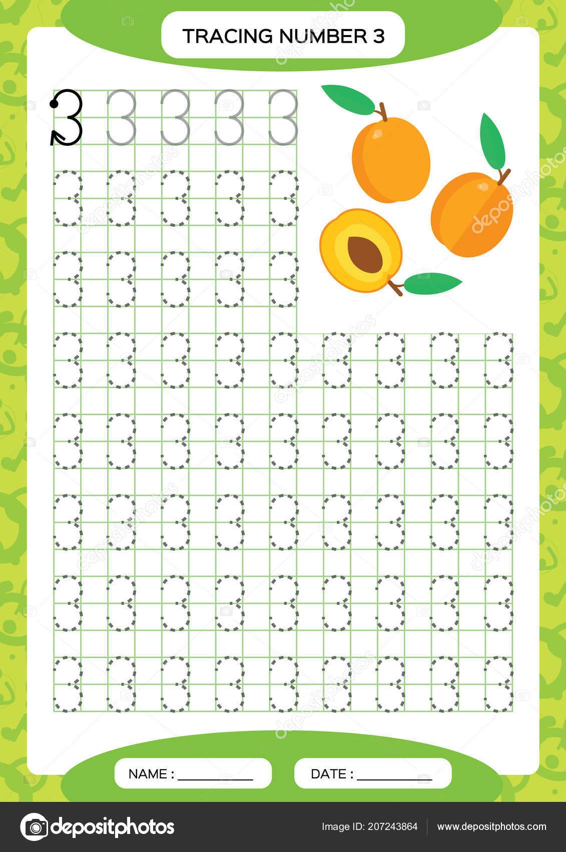 Numero Hoja Trabajo Seguimiento Tres Fruta Naranja