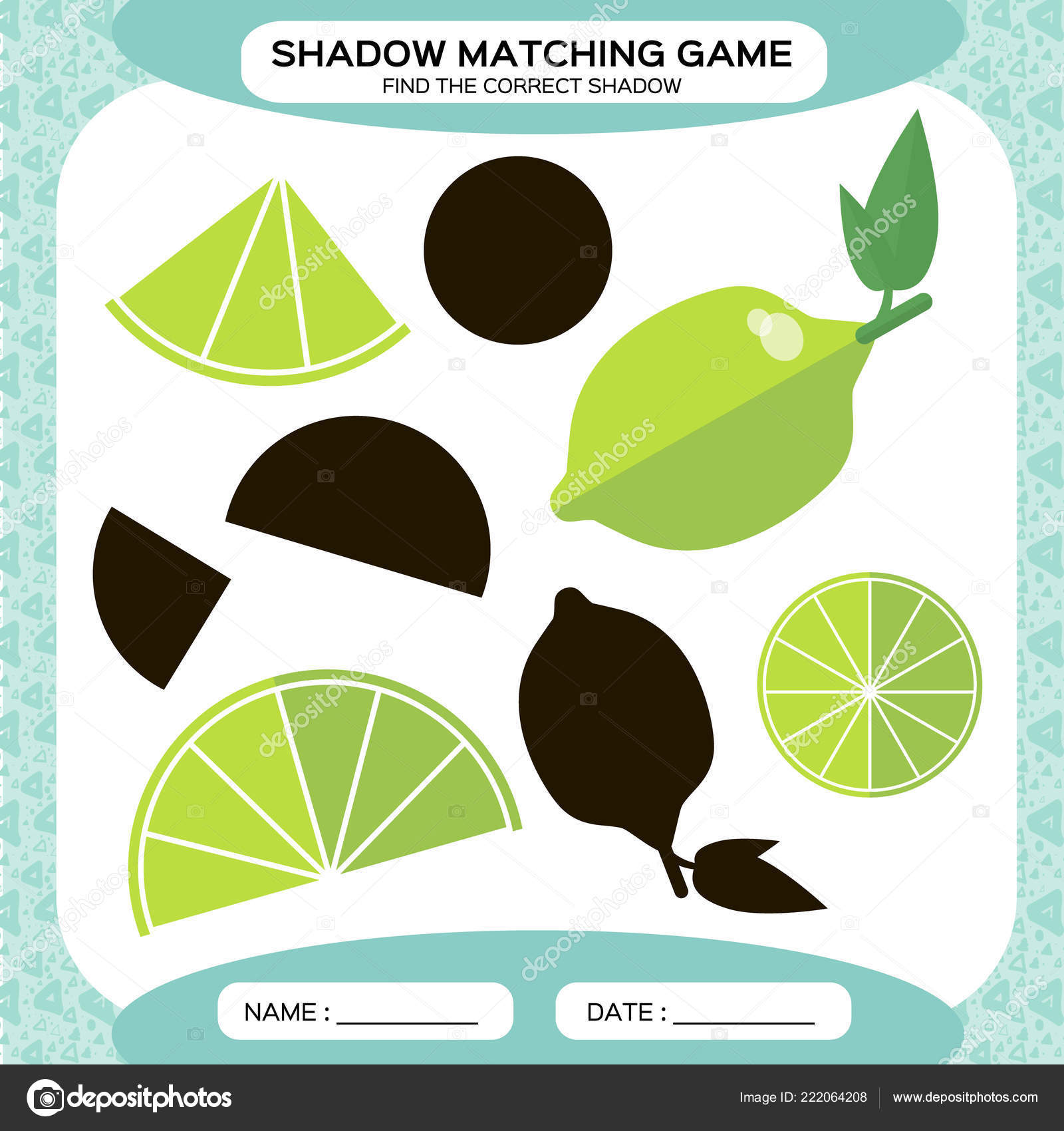 Shadow Matching Game Find Correct Shadows Activity Page
