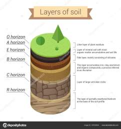 soil is a mixture of plant residue and fine mineral particles which form layers vector diagram vector by lembergvector [ 1600 x 1700 Pixel ]