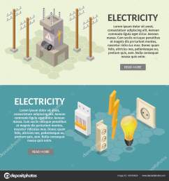 isometric electricity production elements transformer bulb home electrical infographic stock vector [ 1600 x 1700 Pixel ]