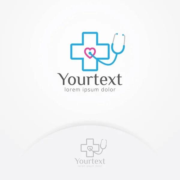 Logotipo de cuidado de salud naturaleza corazón — Vector