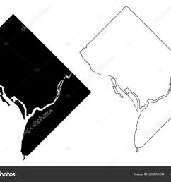 washington city united states cities united states of america usa city map vector illustration scribble sketch city of washington d c district of  [ 1600 x 1167 Pixel ]