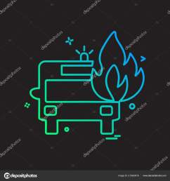 fire truck icon design vector stock vector [ 1600 x 1700 Pixel ]