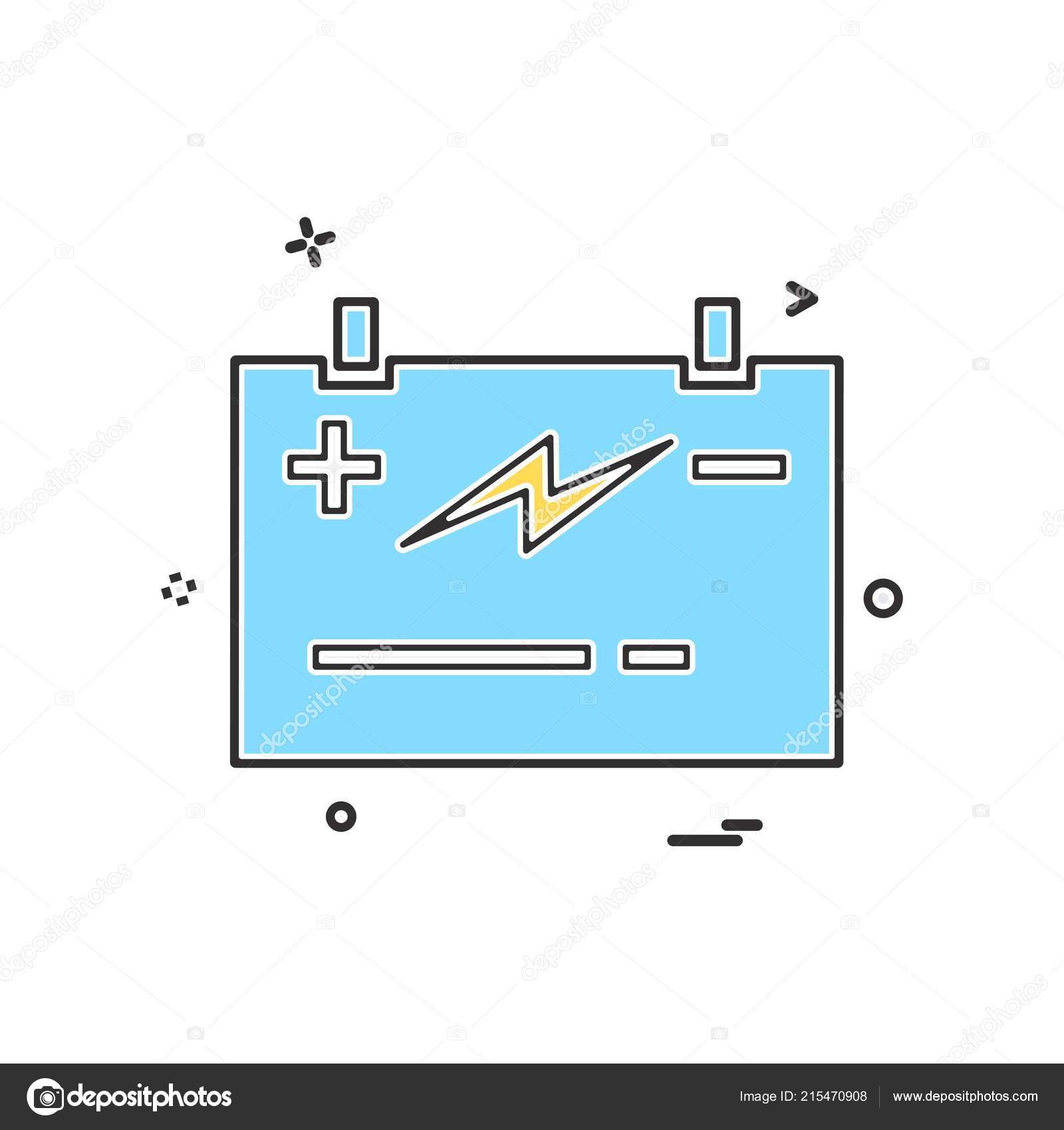 hight resolution of battery power jumper icon vector design stock illustration
