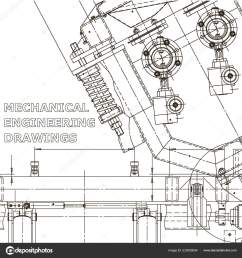computer aided design systems instrument making drawings blueprint diagram plan sketch vector by bubushonok [ 1600 x 1700 Pixel ]