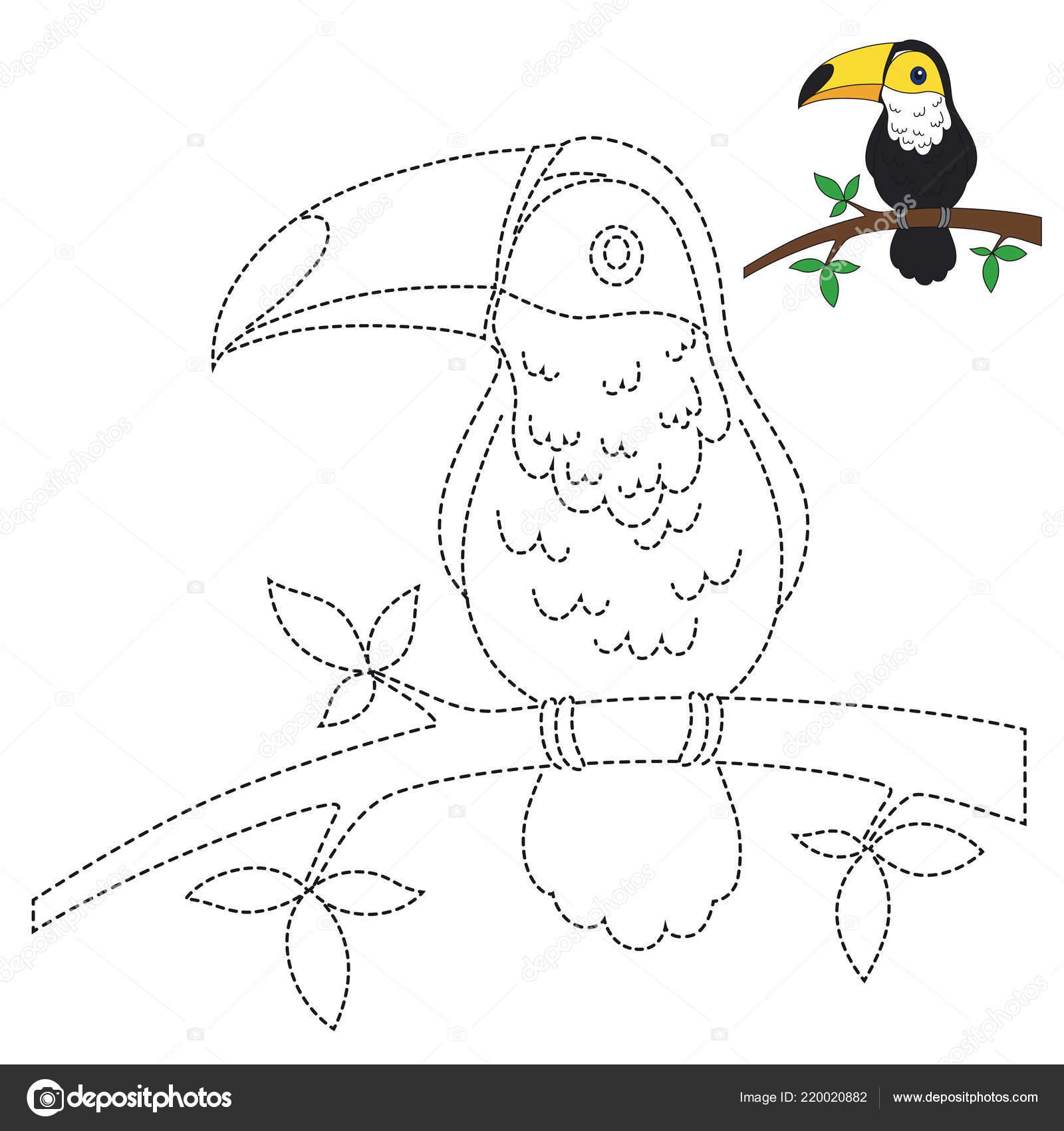 Vector Drawing Worksheet Preschool Kids Easy Gaming Level