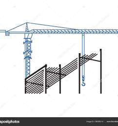 tower crane works background construction background crane construction site stock vector [ 1600 x 1433 Pixel ]