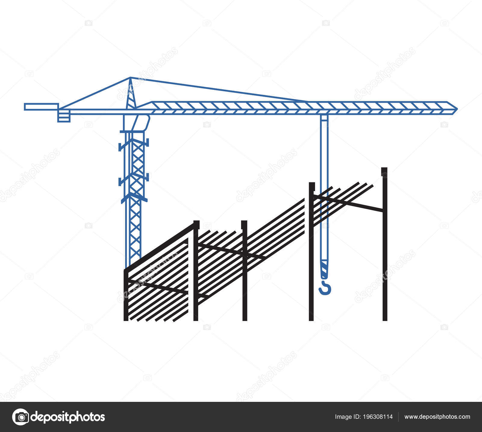 hight resolution of tower crane works background construction background crane construction site stock vector