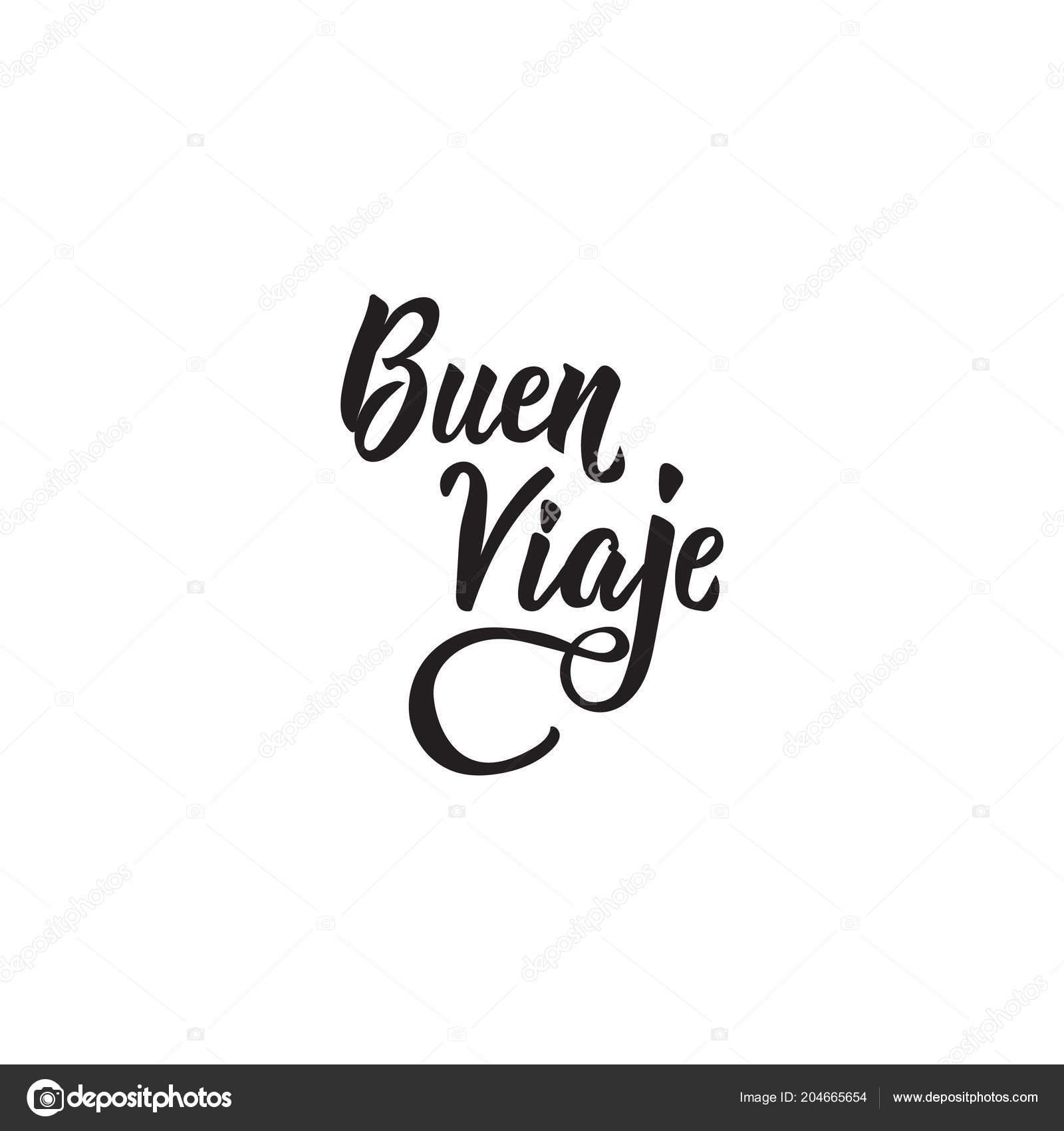 Texto Español Buen Viaje Rotulación Buen Viaje Ilustración