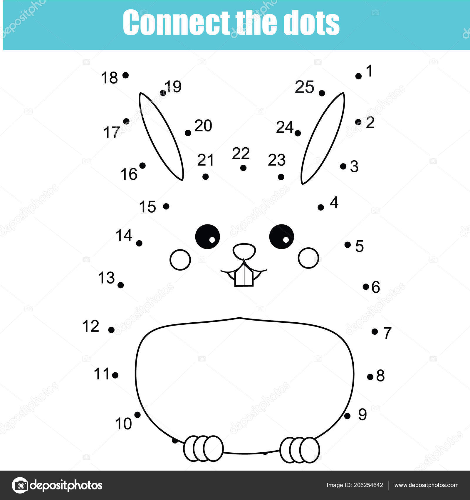 Connect Dots Children Educational Drawing Game Dot Dot