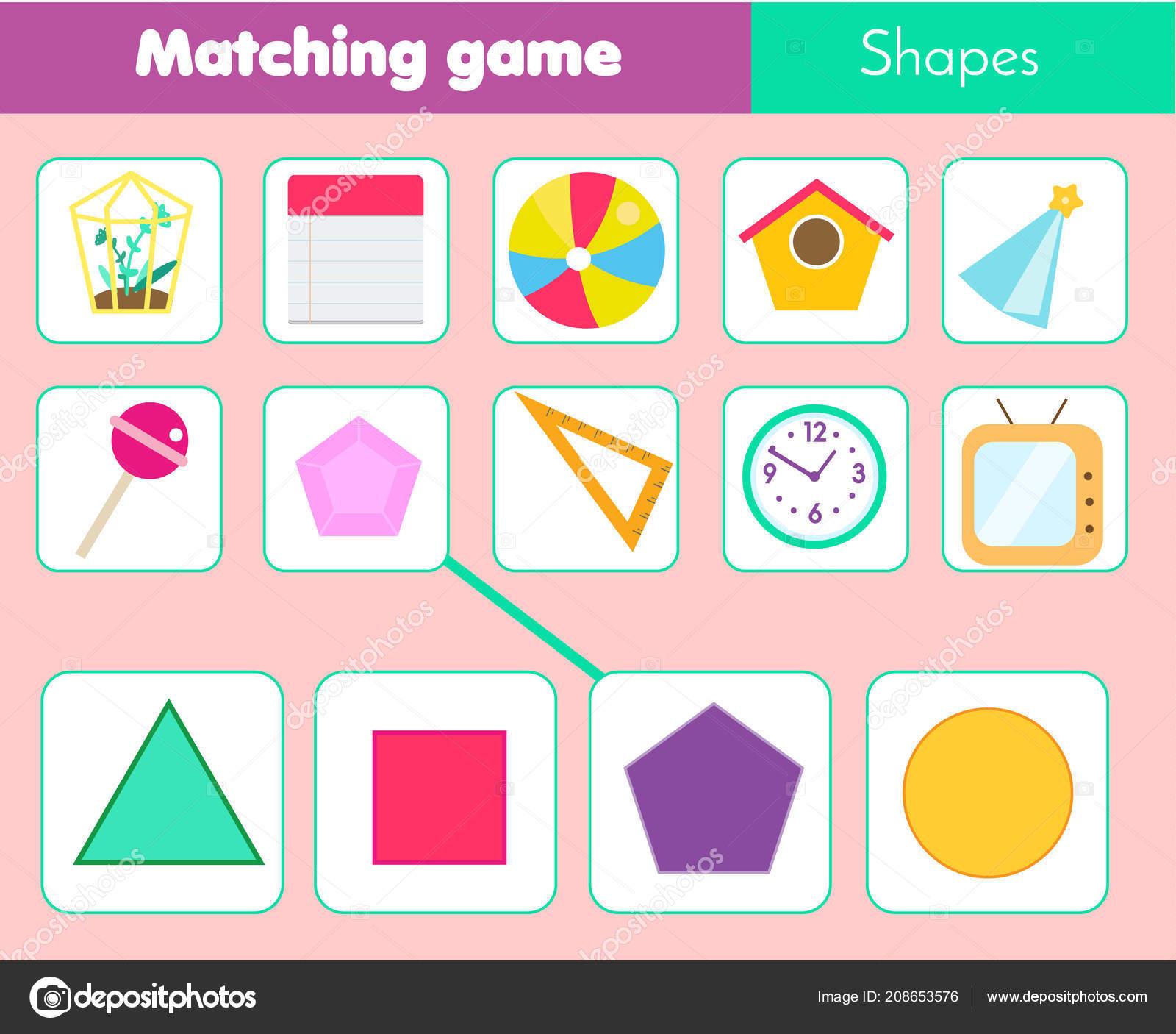 Educational Children Game Matching Game Worksheet Kids