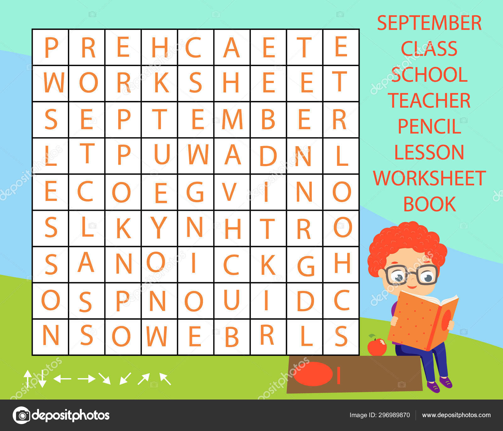 Educational Game For Children Word Search Puzzle Kids