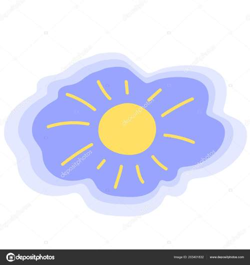 small resolution of sunny weather freehand vector icon childish sun logo weather forecast symbol summer sky illustration morning sunshine isolated