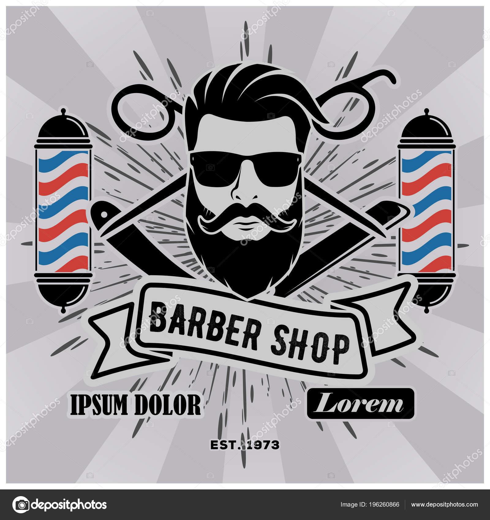 barbería logo con los