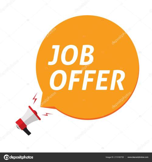 small resolution of job offer announce in bubble speech and megaphone vector illustration isolated clipart stock vector