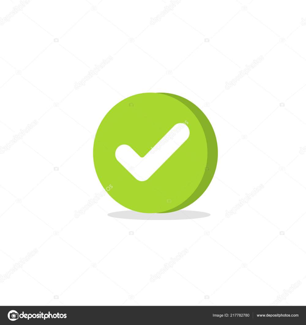 medium resolution of tick icon vector symbol cartoon green 3d checkmark isolated on white checked icon or