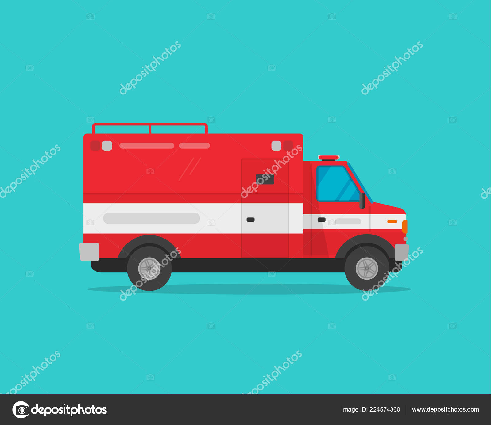 hight resolution of fire truck vector illustration flat cartoon firetruck emergency vehicle isolated on blue color background clipart